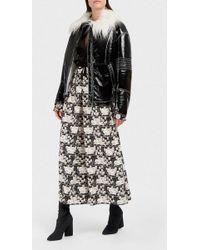 Giamba - Oversized Faux Patent-leather Jacket - Lyst