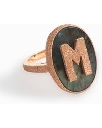 Carolina Bucci - 18k Rose Gold M Initial Ring - Lyst