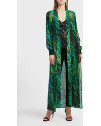 Elie Saab - Printed Silk-blend Coat - Lyst