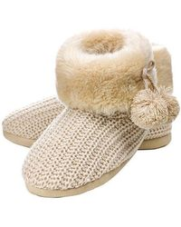 Boux Avenue - Cable Knit Booties - Lyst