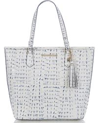 89a4721b8628 Lyst - MICHAEL Michael Kors Large Marina Gathered Tote in White