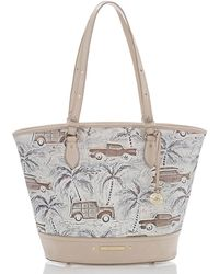 017792d83e Valentino Cabana Top-handle Medium Leather Lock Shoulder Bag in White - Lyst