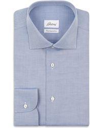 Brioni - Bluette Twill Formal Shirt - Lyst