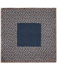 Brioni - Blue Designed Pocket Square - Lyst