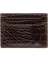 Brioni - Mahogany Alligator Credit Card Holder - Lyst