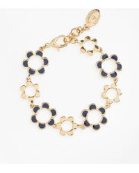 Brooks Brothers - Enamelled Floral Bracelet - Lyst