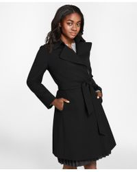 Brooks Brothers - Wool-blend Crepe Trench Coat - Lyst