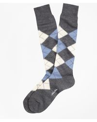 Brooks Brothers | Argyle Over-the-calf Socks | Lyst