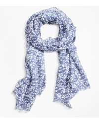 Brooks Brothers - Floral-print Oblong Scarf - Lyst