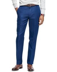 Brooks Brothers - Milano Fit Linen And Cotton Pants - Lyst