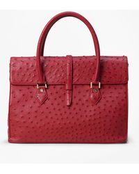 Brooks Brothers - Ostrich Large Satchel - Lyst