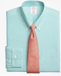 Brooks Brothers - Milano Slim-fit Dress Shirt, Non-iron Dobby Candy Stripe - Lyst