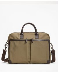 Brooks Brothers - Canvas Briefcase - Lyst
