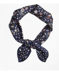 Brooks Brothers - Floral-print Silk Square Scarf - Lyst