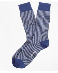 Brooks Brothers - Stripe Crew Socks - Lyst