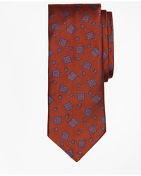 Brooks Brothers - Tossed Alternating Medallion Tie - Lyst