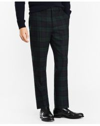 Brooks Brothers - Donegal Lambswool Black Watch Tartan Trousers - Lyst