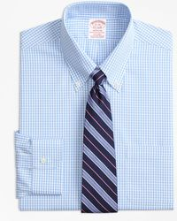 Brooks Brothers - Stretch Madison Classic-fit Dress Shirt, Non-iron Gingham - Lyst