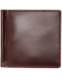 Lyst brooks brothers cordovan business card holder in brown for men brooks brothers cordovan wallet with money clip lyst reheart Images