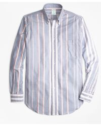Brooks Brothers | Milano Fit Oxford Bold Stripe Sport Shirt | Lyst