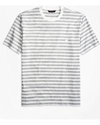 Brooks Brothers   Bar Stripe Supima® Cotton T Shirt   Lyst