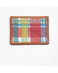 Brooks Brothers - Madras Needlepoint Card Case - Lyst