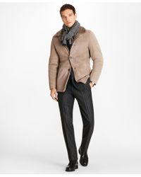 Brooks Brothers - Shearling Coat - Lyst