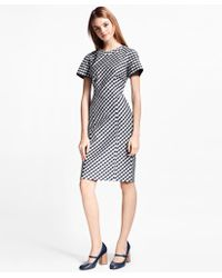 Brooks Brothers - Petite Gingham Double-weave Sheath Dress - Lyst