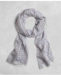 Brooks Brothers | Golden Fleece® Cashmere Silk Gingham Scarf | Lyst