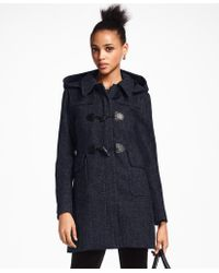 Brooks Brothers - Herringbone Wool-cashmere Duffle Coat - Lyst