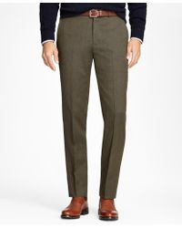 Brooks Brothers - Regent Fit Whipcord Wool Trousers - Lyst
