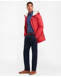 Brooks Brothers - Sherpa-lined Water-repellent Parka - Lyst