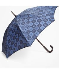 Brooks Brothers - 200th Anniversary Special-edition Navy Stick Umbrella - Lyst