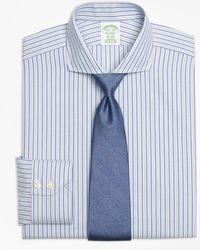 Brooks Brothers - Milano Slim-fit Dress Shirt, Non-iron Herringbone Alternating Stripe - Lyst