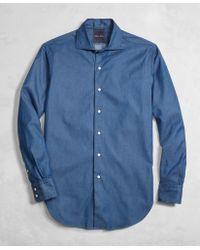 Brooks Brothers - Golden Fleece® Italian Denim Regent Fit English Collar Shirt - Lyst