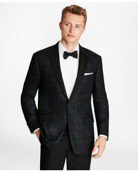 Brooks Brothers - Slim Fit Black Watch Wool Tuxedo Jacket - Lyst