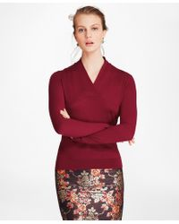 Brooks Brothers - Silk-cashmere Shawl-collar Sweater - Lyst