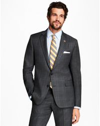 Brooks Brothers - Regent Fit Plaid With Deco 1818 Suit - Lyst