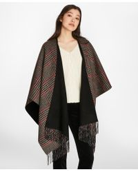 Brooks Brothers - Reversible Glen Plaid Wool-cashmere Ruana - Lyst