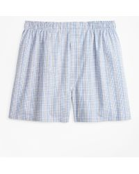 Brooks Brothers - Traditional Fit Plaid Boxers - Lyst