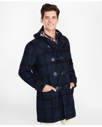 Brooks Brothers - Double-faced Wool-blend Plaid Duffle Coat - Lyst