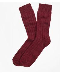 Brooks Brothers - Ribbed Cashmere Dress Socks - Lyst