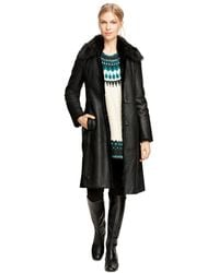 Brooks Brothers - Long Shearling Coat - Lyst