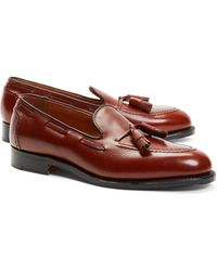 Brooks Brothers - Textured Tassel Loafers - Lyst