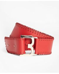 Brooks Brothers - Whipstitched Leather Belt - Lyst