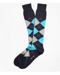 Brooks Brothers - Argyle Over-the-calf Socks - Lyst