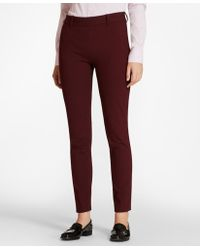 Brooks Brothers - Stretch-cotton Twill Ankle Trousers - Lyst