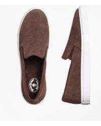 Brooks Brothers - Suede Slip-on Sneakers - Lyst