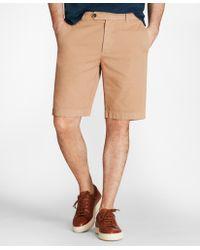 "Brooks Brothers - Garment-dyed 10"" Bermuda Shorts - Lyst"