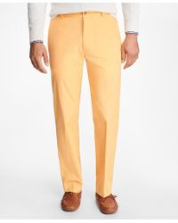 Brooks Brothers | Clark Fit Supima® Cotton Poplin Pants | Lyst